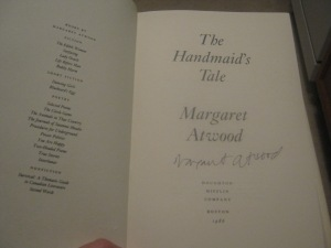 Margaret Atwood Signed Copy